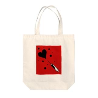 注射器から愛 Tote bags
