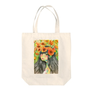 poppy Tote bags