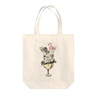 のんすけ | inshutou | 自由飲酒党のnonsuke flamingo Tote bags