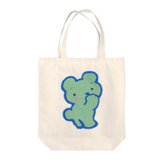 ブルーベア Tote bags