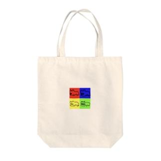 本気で描いたカバ(四角) Tote bags