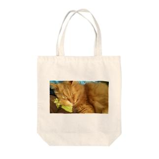 ねむにゃん。 Tote bags