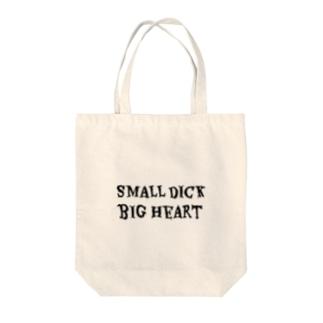 PFP JAPANのSMALL DICK BIG HEART Tote bags