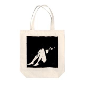 百合・黒 Tote bags