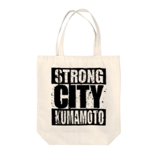 Strong City Kumamoto Tote bags