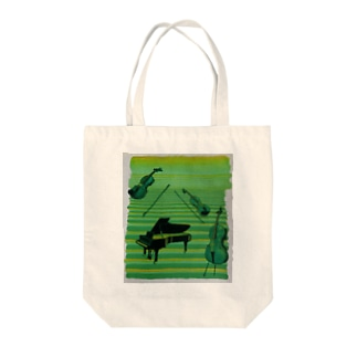 八女茶と楽器 Tote bags