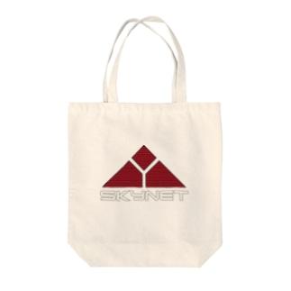 スカイーネット Tote bags