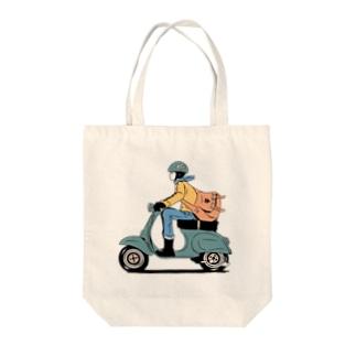 ポス子さん Tote bags