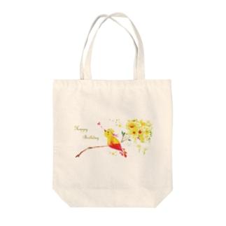 Birth:Little Bird Tote bags