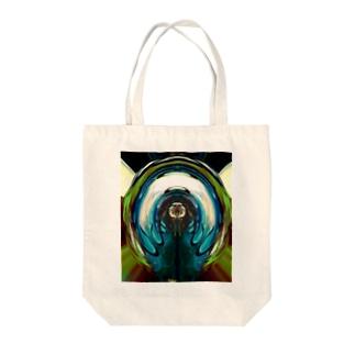 抽象模様サイケ  Tote bags