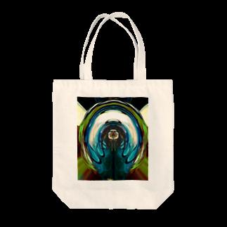 アズペイントの抽象模様サイケ  Tote bags