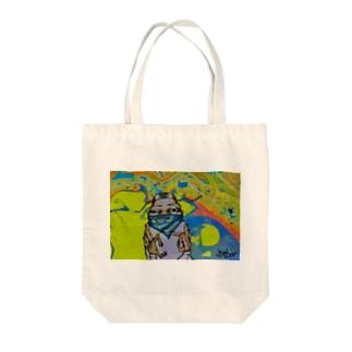 ホーミィくん Tote bags