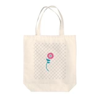 ガーベラ Tote bags