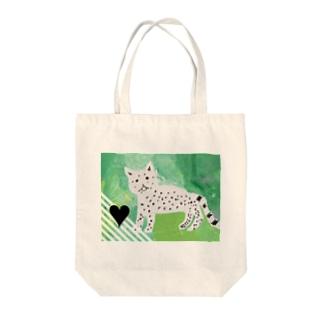 ユキヒョウちゃん Tote bags