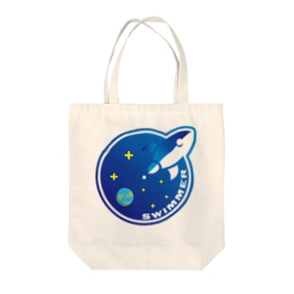 SWIMMER Tote bags