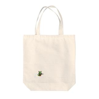 刺繍いもむし Tote bags