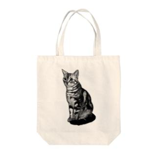 モノクロのマャーちゃん Tote bags