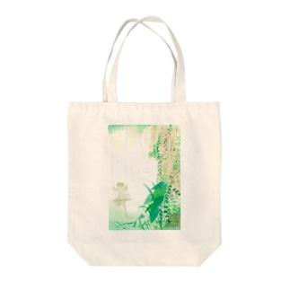 ブランコやもりのトートバッグ Tote bags