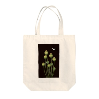 Flower bud and Small butterfly Tote bags