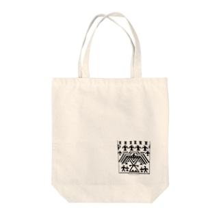 イーグル柄ネイティブアメリカン Tote bags