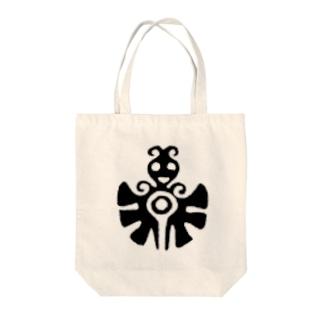 可愛い蝶々さんネイティブアメリカンデザイン Tote bags