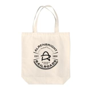 Railroads エンブレムロゴ 黒 Tote bags