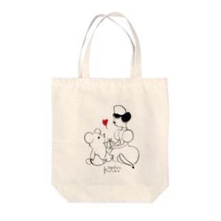 ナースとくま(♡赤) Tote bags