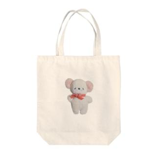 白ねずみさん/にっこり Tote bags