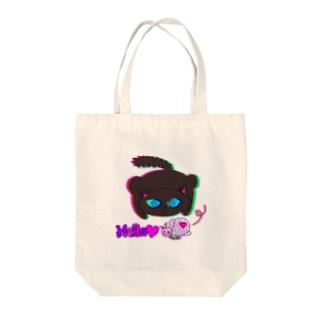 蝶々と黒猫のグルマンくん Tote bags