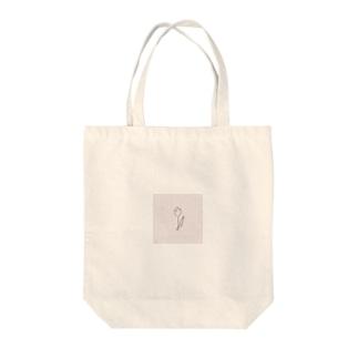 rilybiiの線画チューリップ*pink Tote bags