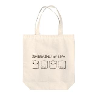ももくらげ🌱LINEスタンプ販売中のSHIBAINU of Life Tote bags