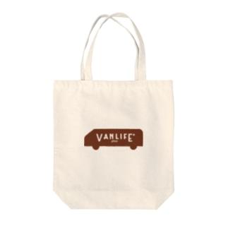 vanlife plus_logomark01 Tote bags