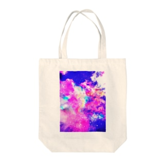 Sky collage Tote bags