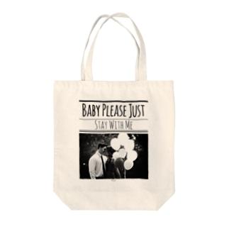 レトロなモノトーンコーデ 「Stay With Me」 Tote bags