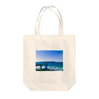 青い景色 Tote bags