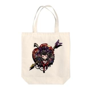 毒リンゴ姫 Tote bags