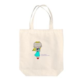 タツヤ タカハシのRosanna's Prayer Tote bags