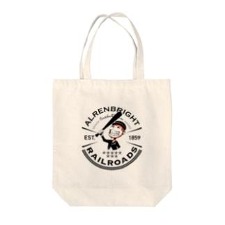 Railroads お猿さんエンブレム 黒 Tote bags