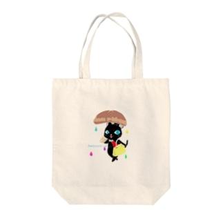 くろねこ にゃ~ご* Tote bags