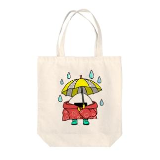 おにぎりやろうの雨の日おにぎり Tote bags