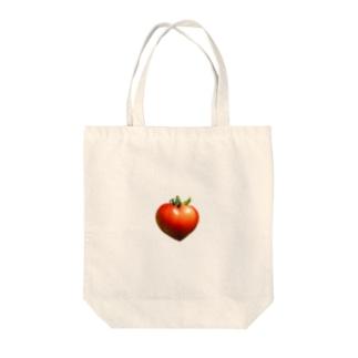 ハートのトマト ミニタイプ Tote bags