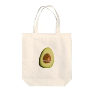 アボカド Tote bags