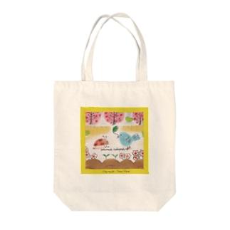 鳥とテントウムシ Tote bags