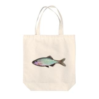 ミナミアカヒレタビラ Tote bags