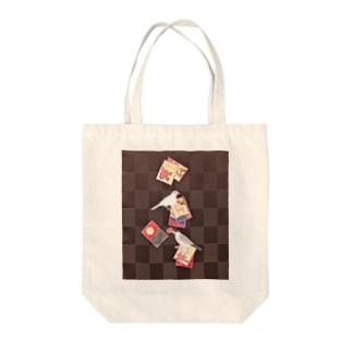 花札と文鳥 Tote bags
