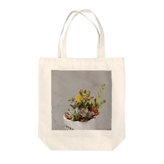 多肉植物 セダムの花 Tote bags