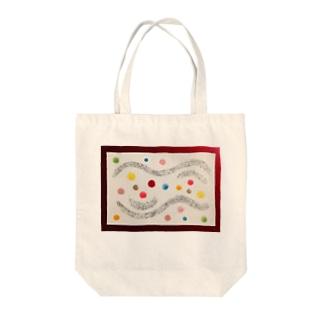 愛の波 Tote bags