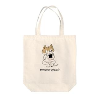 おにぎり犬人 Tote bags