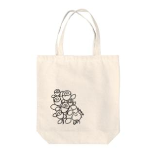 ばらねこ モノクロ Tote bags