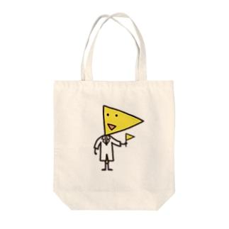 ハタさん Tote bags